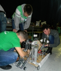 "Students of the School of Electrical and Mechanical Engineering took part in VII all-Russian robotic festival ""Robofest 2015"""